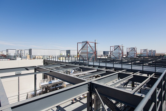 Foto detalle del CPD que construye Ferrovial Agroman