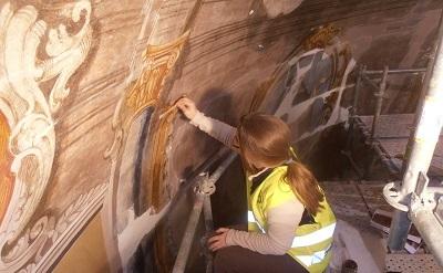 Recuperación de las pinturas de la cúpula