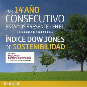 Ferrovial 14 años consecutivos Dow Jones Sustainability Index