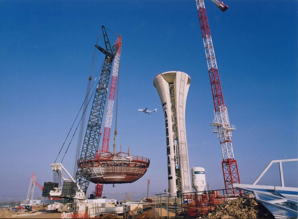 Torrre control Aeropuerto Barajas 1999 construccion
