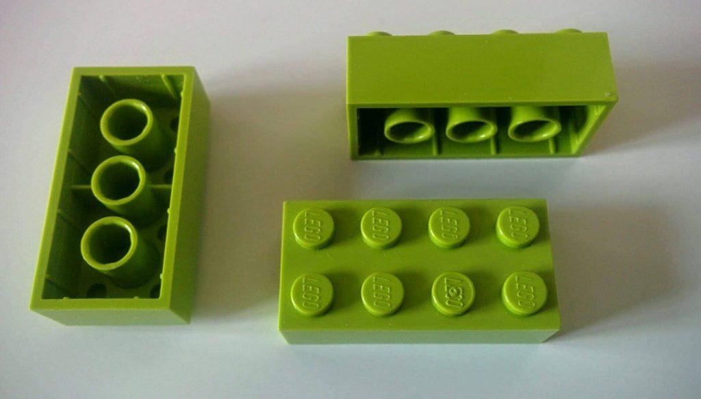 piezas de Lego de ocho pines