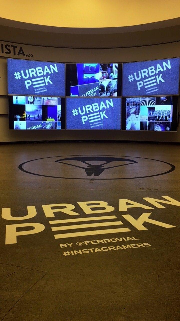 La entrada de la exposición UrbanPeek