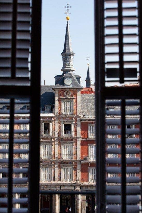 Plaza mayor restoration in Madrid