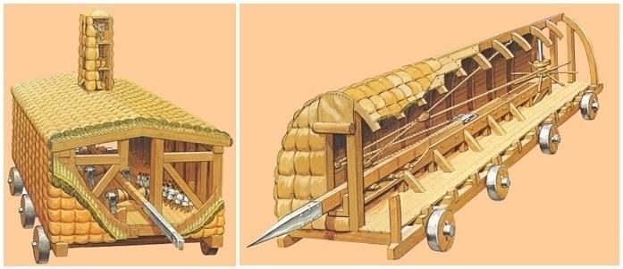 roman galleries - battering rans