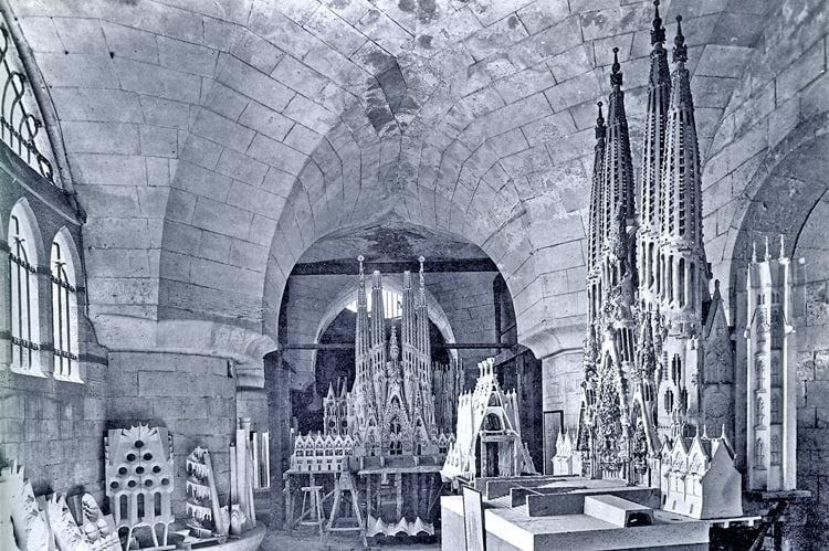 Gaudi's own modelling workshop