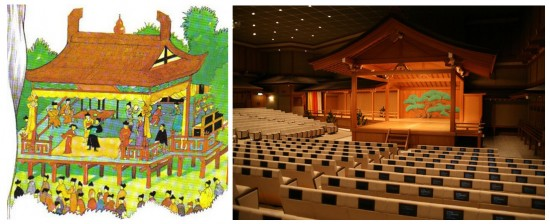Un teatro japonés
