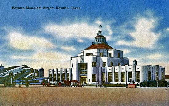 Diseño art decó del aeropuerto de Houston,