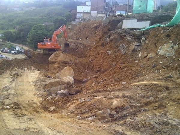 cemento expansivo usado en una excavación