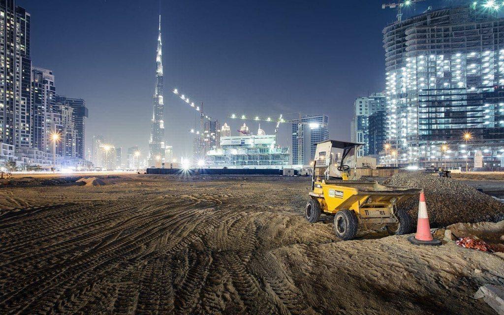 obra de construcción en dubai