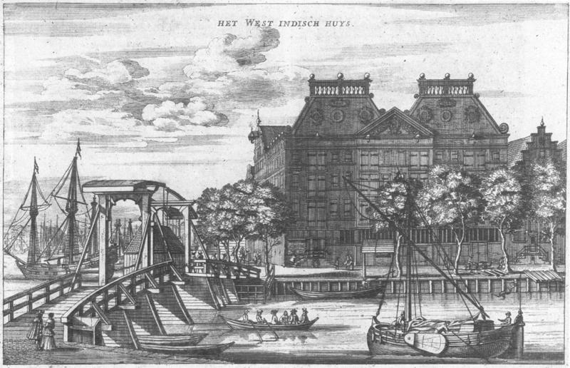 grabado ciudad amsterdam