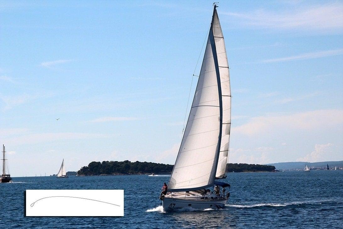 Biomimetic design sailboat sea