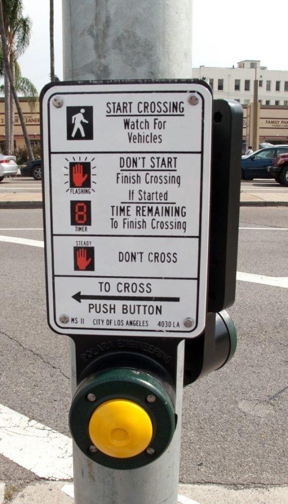 LA pedestrian crossing button