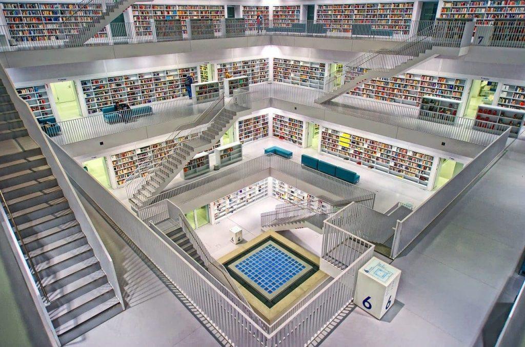iot biblioteca de stuttgart (alemania)