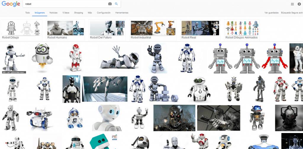 Resultados de robots en Google imágenes