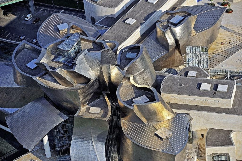 Aerial view of Guggenheim Museum-