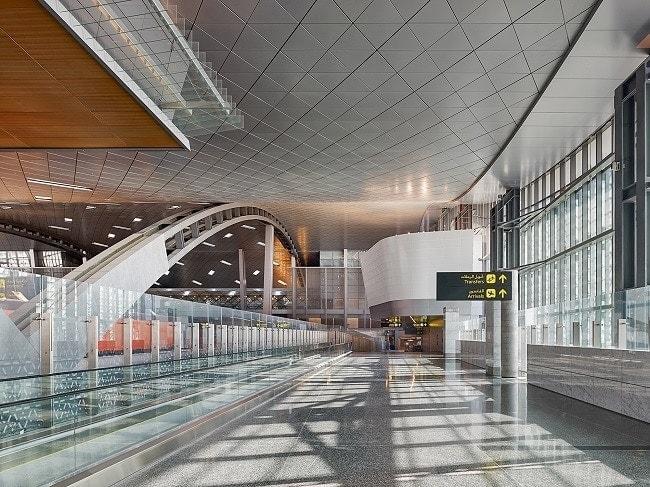 interior of Hamad International Airport Doha