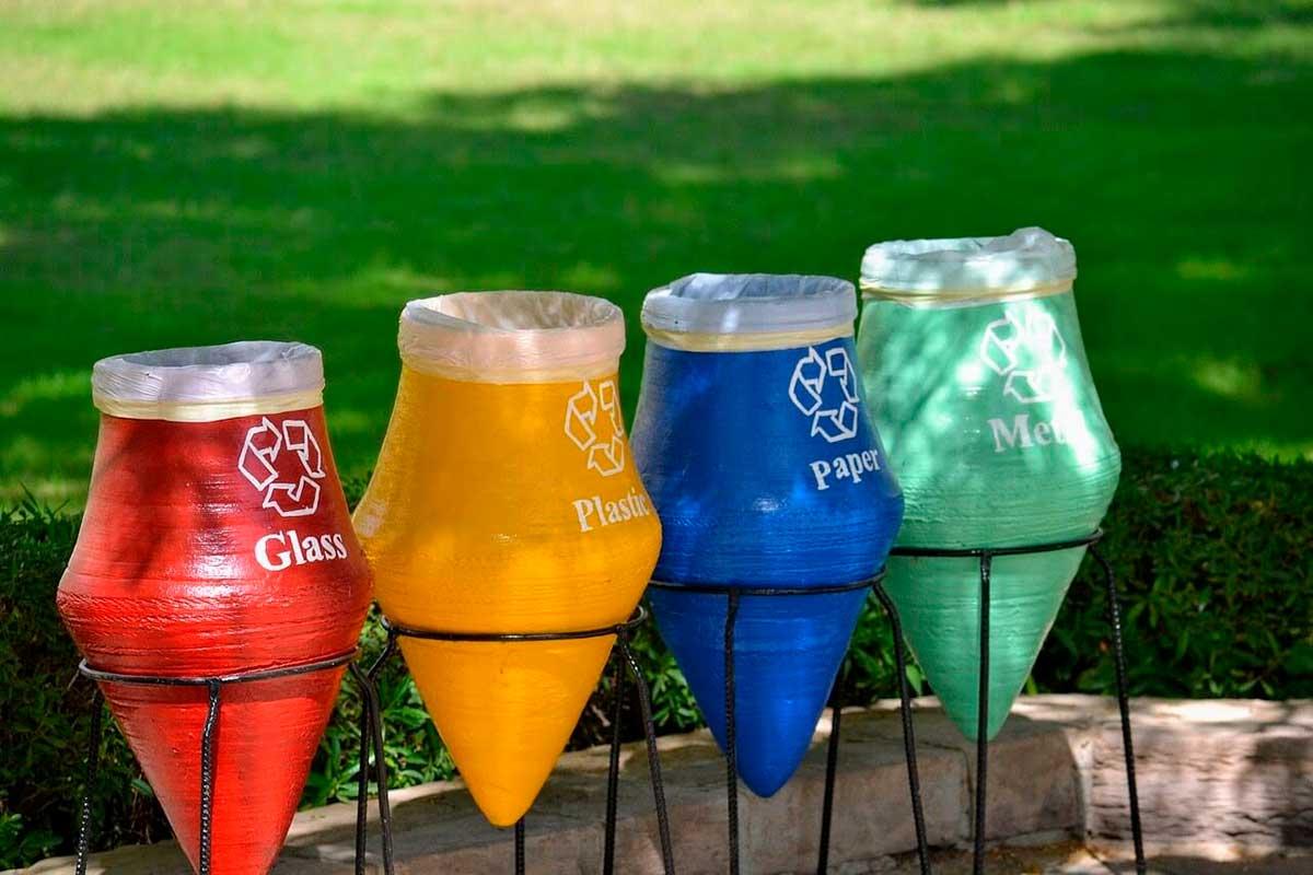 Papeleres de reciclaje