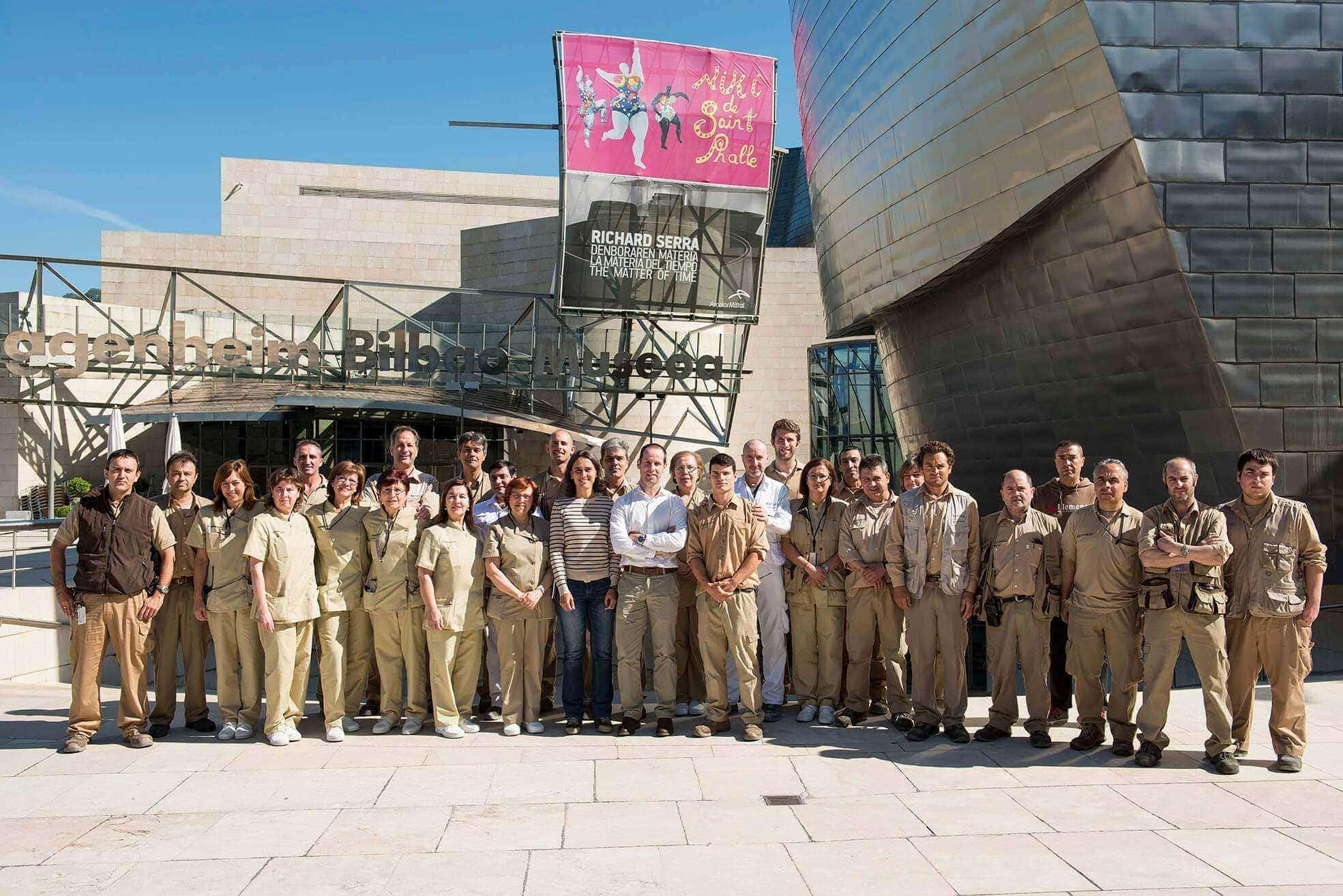 Trabajadores de mantenimiento del Guggenheim