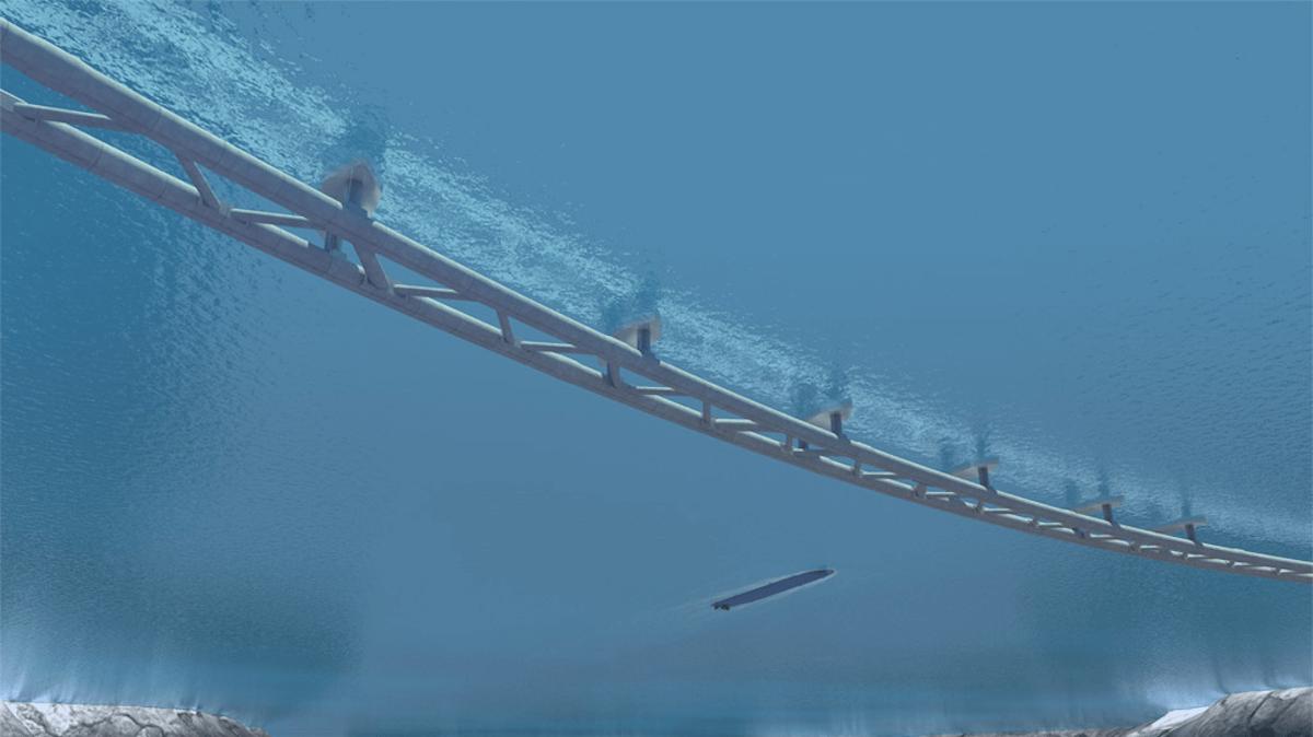 Túnel submarino flotante en Noruega