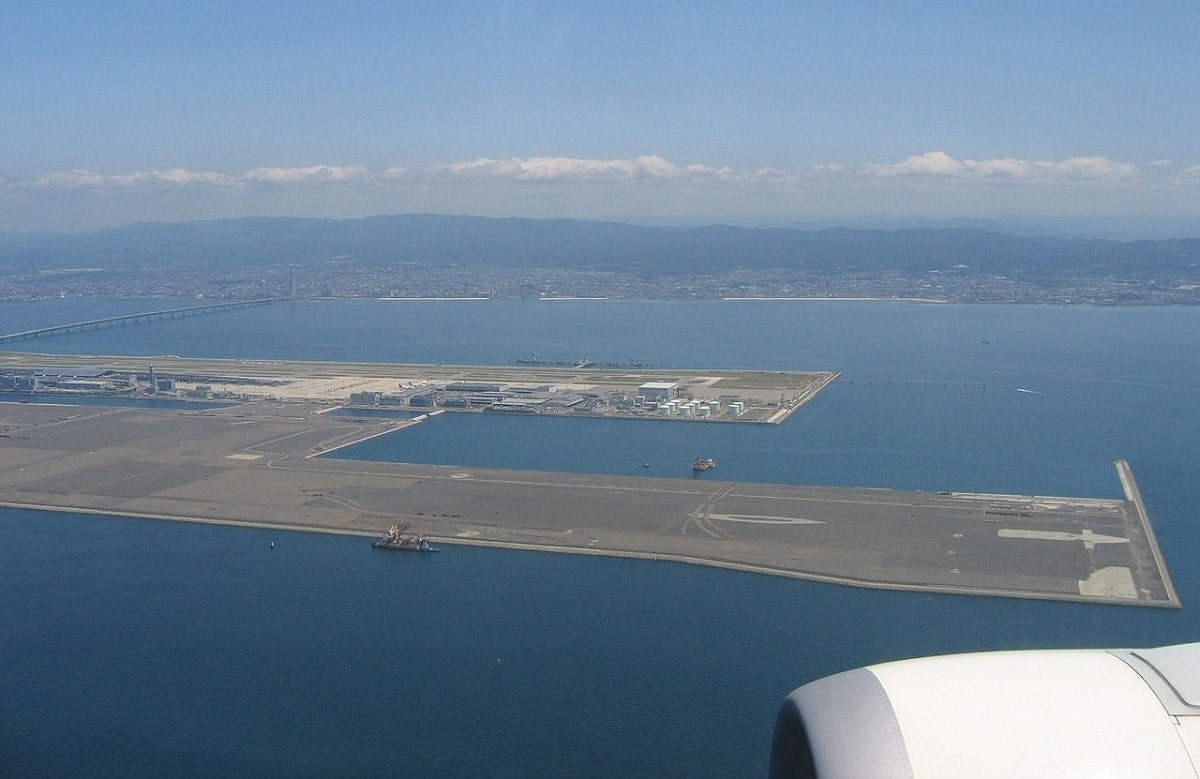 Aeropuerto de Kansai en construccion