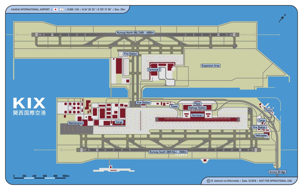 Kansai Airport diagram