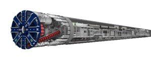 Cómo es el cabezal de una tuneladora gigante