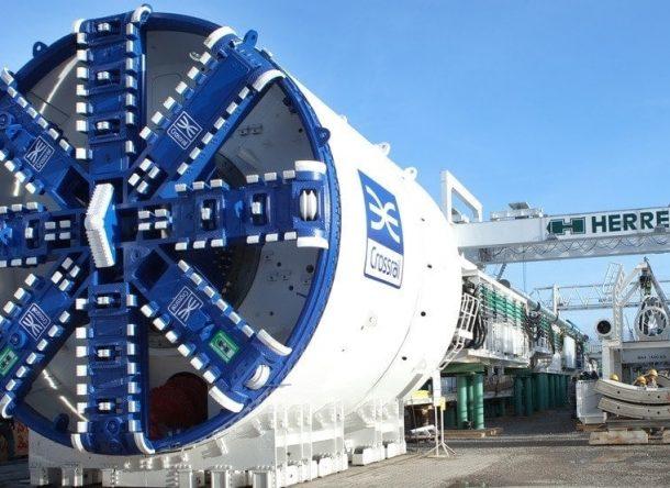 Imagen de una tuneladora de Crossrail