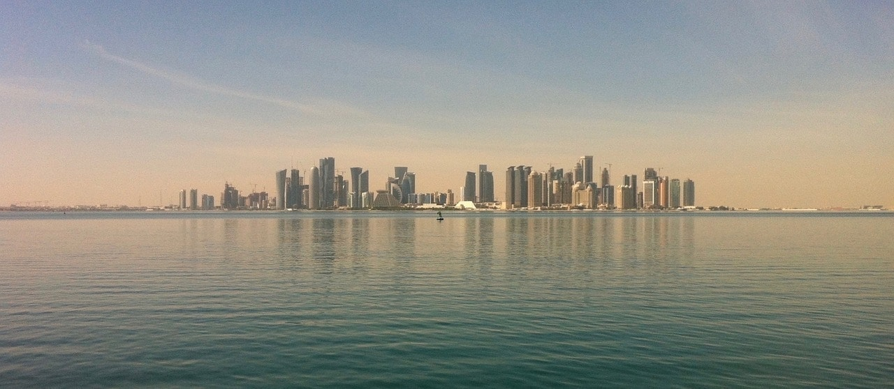 Imagen de vista alejada de Doha, Qatar