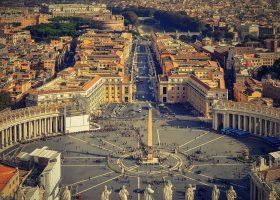 Imagen aérea del Estado del Vaticano