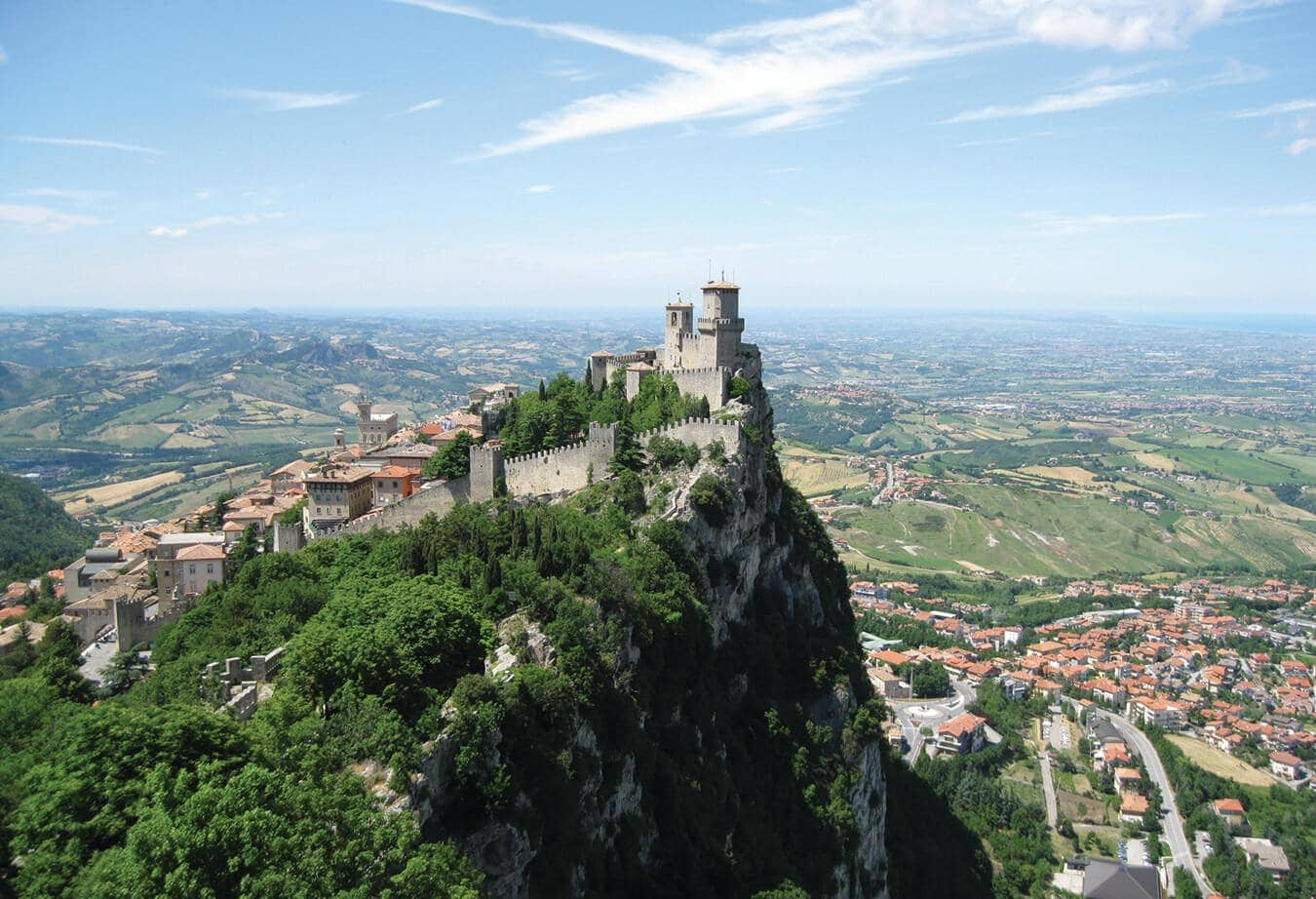 Picture of a castle at San Marino State