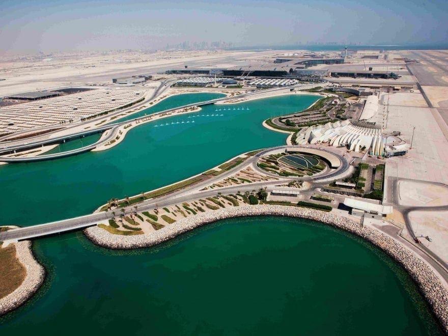 Vista aérea del Aeropuerto Internacional Hamad Doha, Qatar, Ferrovial