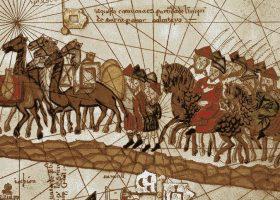 pintura marco polo ruta de la seda