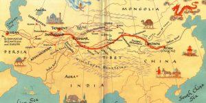 Recreación de mapa de la antigua Ruta de la Seda / Universidad de Yale