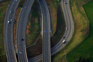 highway on a bridge