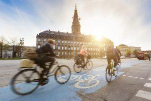 bicycle traffic jam