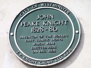 John Peake Knight insignia who created the first traffic light