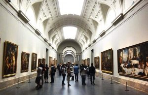View from the interior of the Prado Museum
