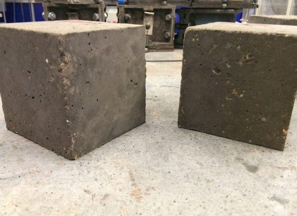 cemento con grafeno duro sostenible