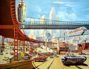 Ciudad retrofuturista