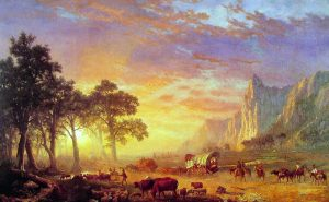 Painting by Albert Bierstadt, The Oregon Trail, 1869. / Boca Raton Museum