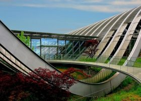 edificio arquitectura de ciencia ficcion