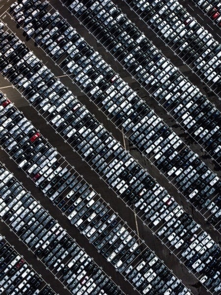 Parking vista aerea