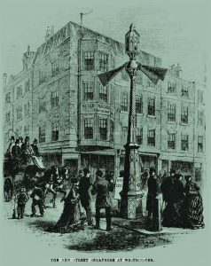 Illustration of the Westminster traffic light published in the Illustrated Times.