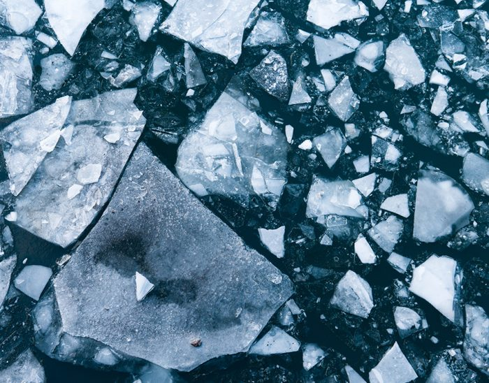 Image of an ice sheet broken into pieces