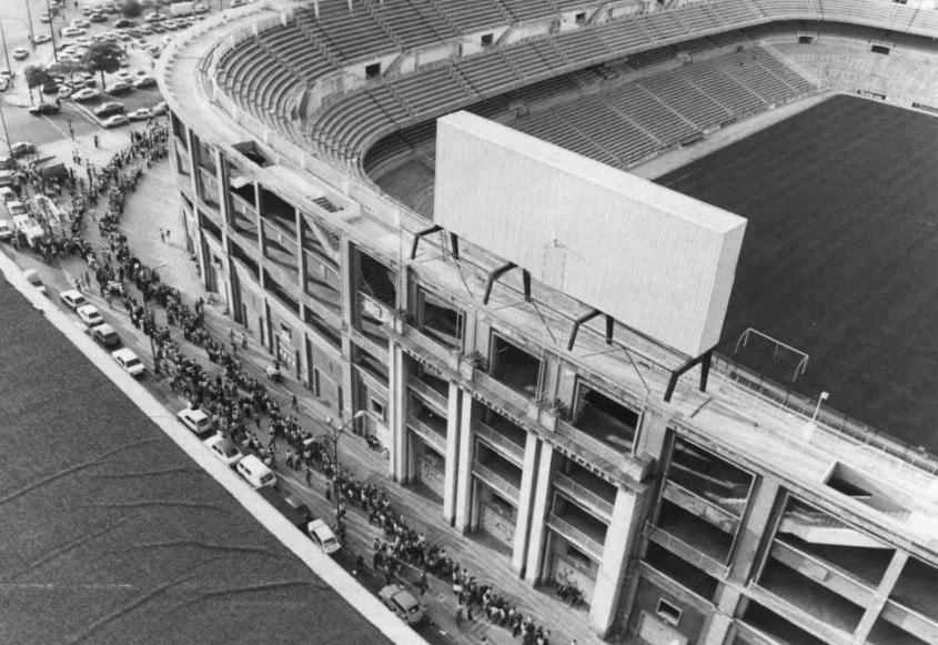 Estadio Santiago Bernabeu, año 1972