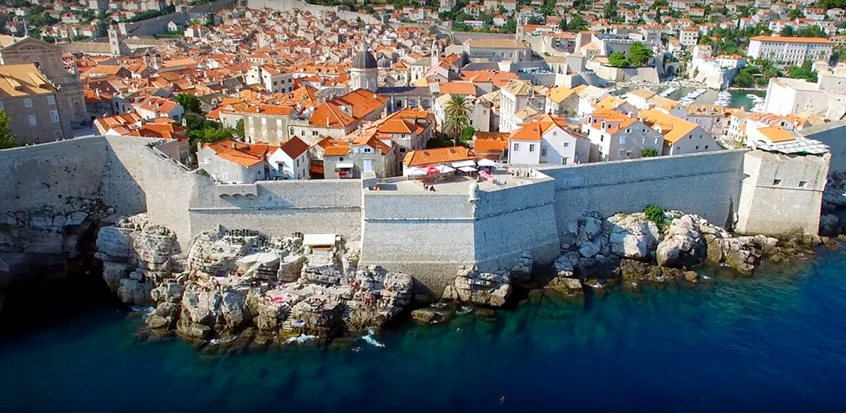 The fortified city of Dubrovnik, in Croatia