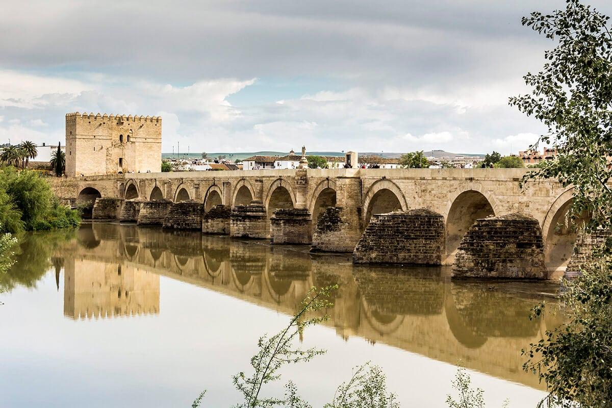 The Roman bridge of Cordoba, built 2000 years ago