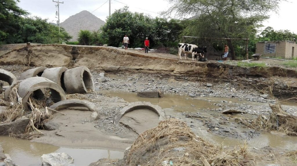 Image of the Cura Mori area, Peru, after the floods