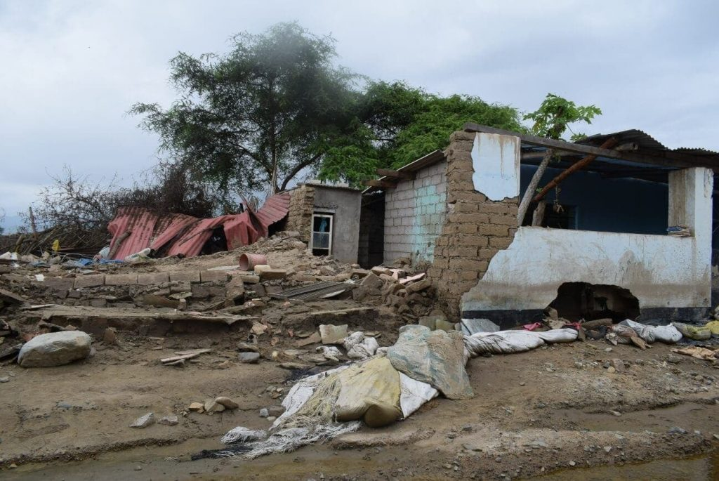 Una de las imágenes de los destrozos causados por este fenómeno meteorológico
