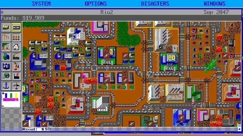Imagen en la que se ve todas los recursos a los que se puede acceder en cuanto a planificación urbanística, los gráficos no eran muy finos todavía